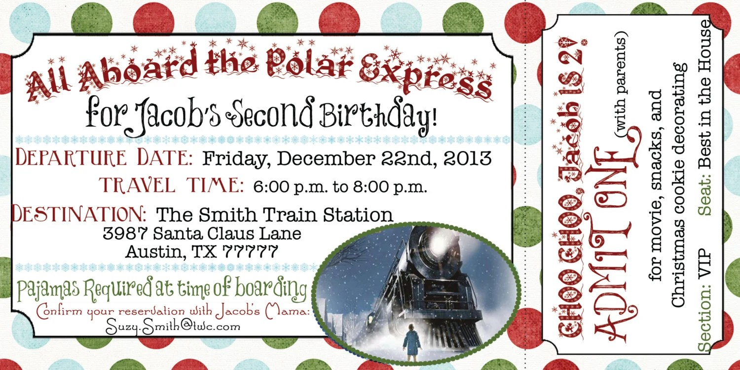 Gratifying image in printable polar express tickets boarding passes