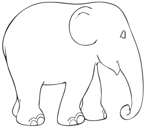 picture relating to Elephant Template Printable identified as elephant template printable PrintableTemplates