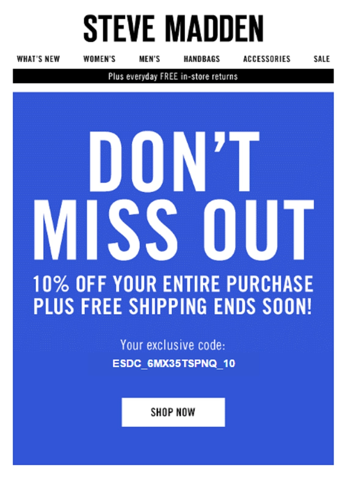 printable coupons steve madden