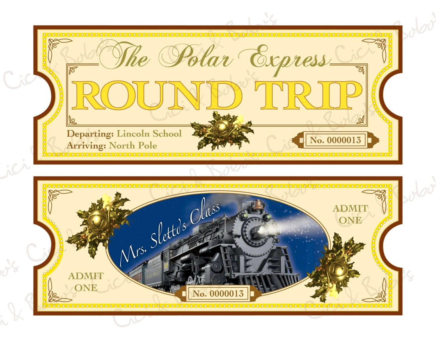Mesmerizing image in printable polar express tickets boarding passes