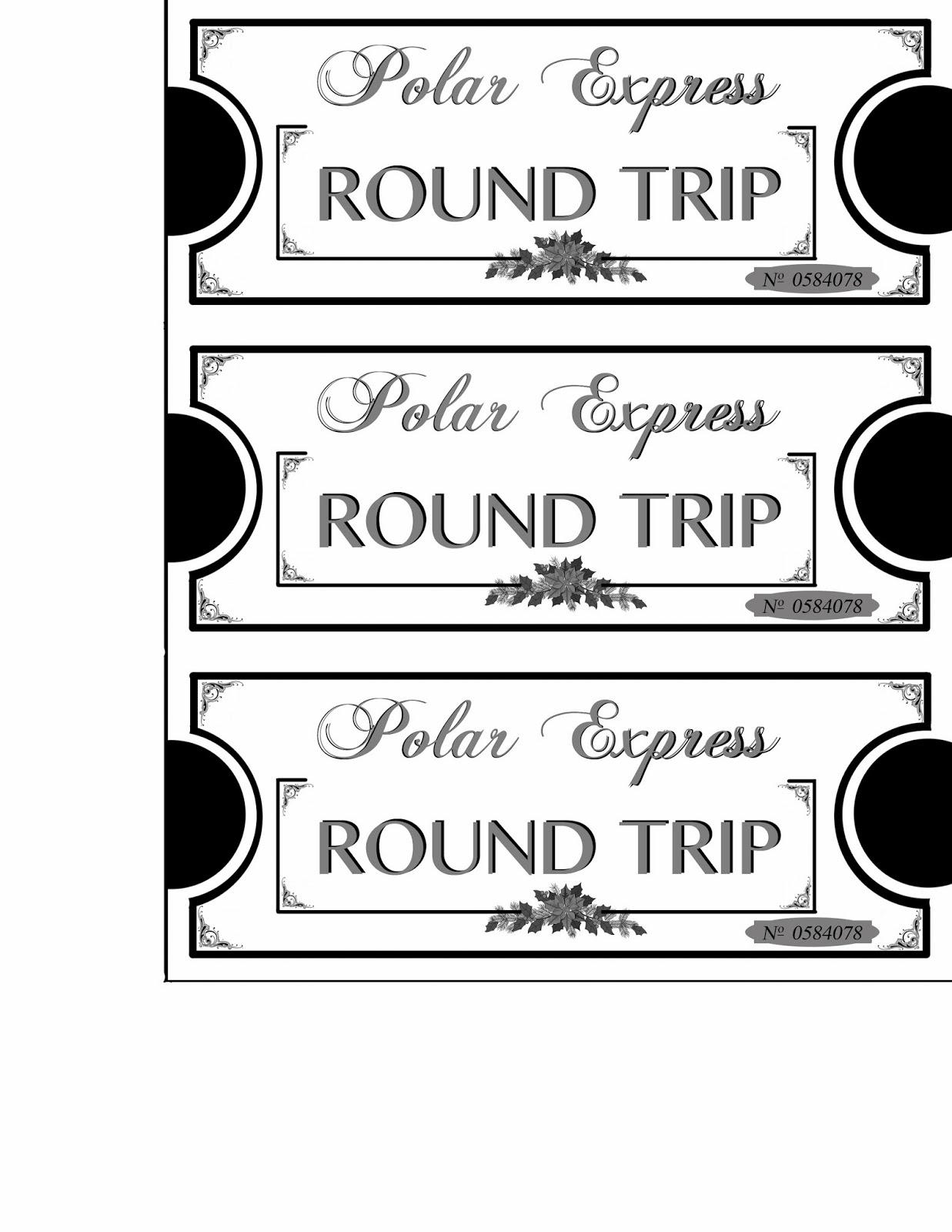 Enterprising image inside printable polar express tickets boarding passes