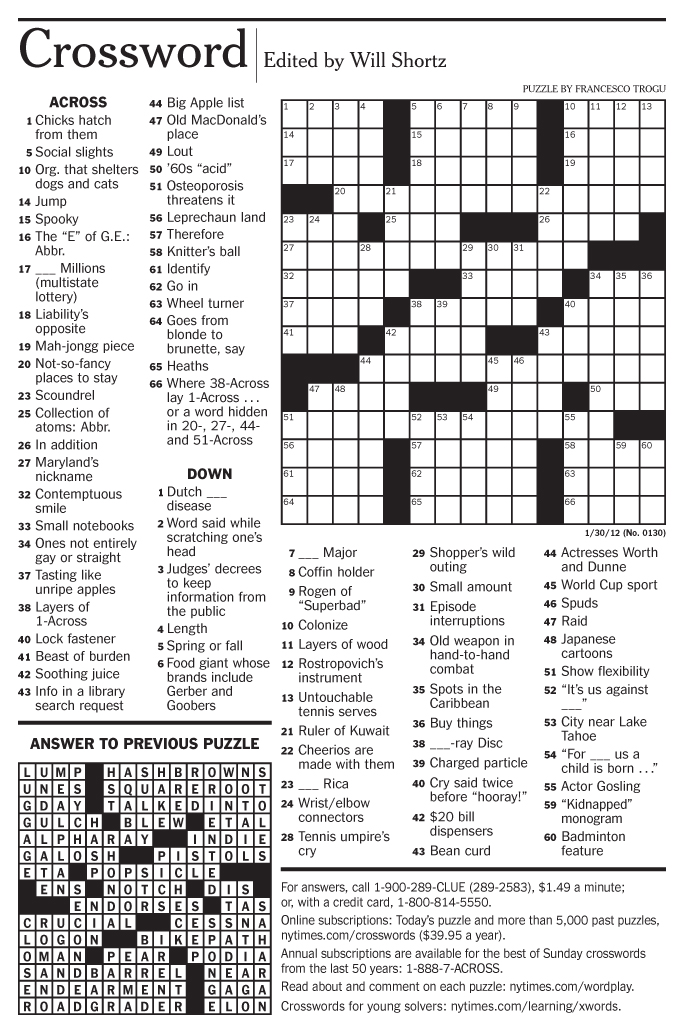 picture about New York Times Sunday Crossword Printable known as Refreshing york Periods crossword Printable Totally free sunday Comfort
