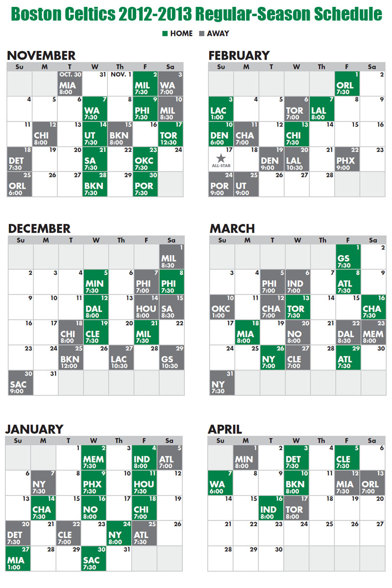 Luscious image for celtics printable schedule