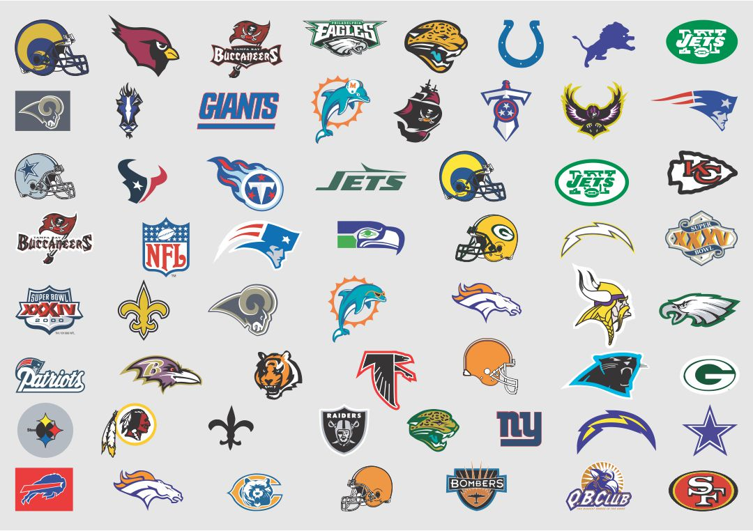 photograph relating to Printable Nfl Logos named printable nfl trademarks PrintableTemplates