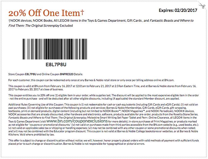 graphic regarding Barnes and Noble Printable Coupon titled printable barnes and noble coupon 2017 PrintableTemplates