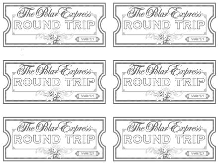 Rare image in printable polar express tickets boarding passes