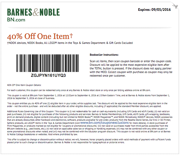 image relating to Barnes and Noble Printable Gift Card identify printable barnes and noble coupon 2017 PrintableTemplates