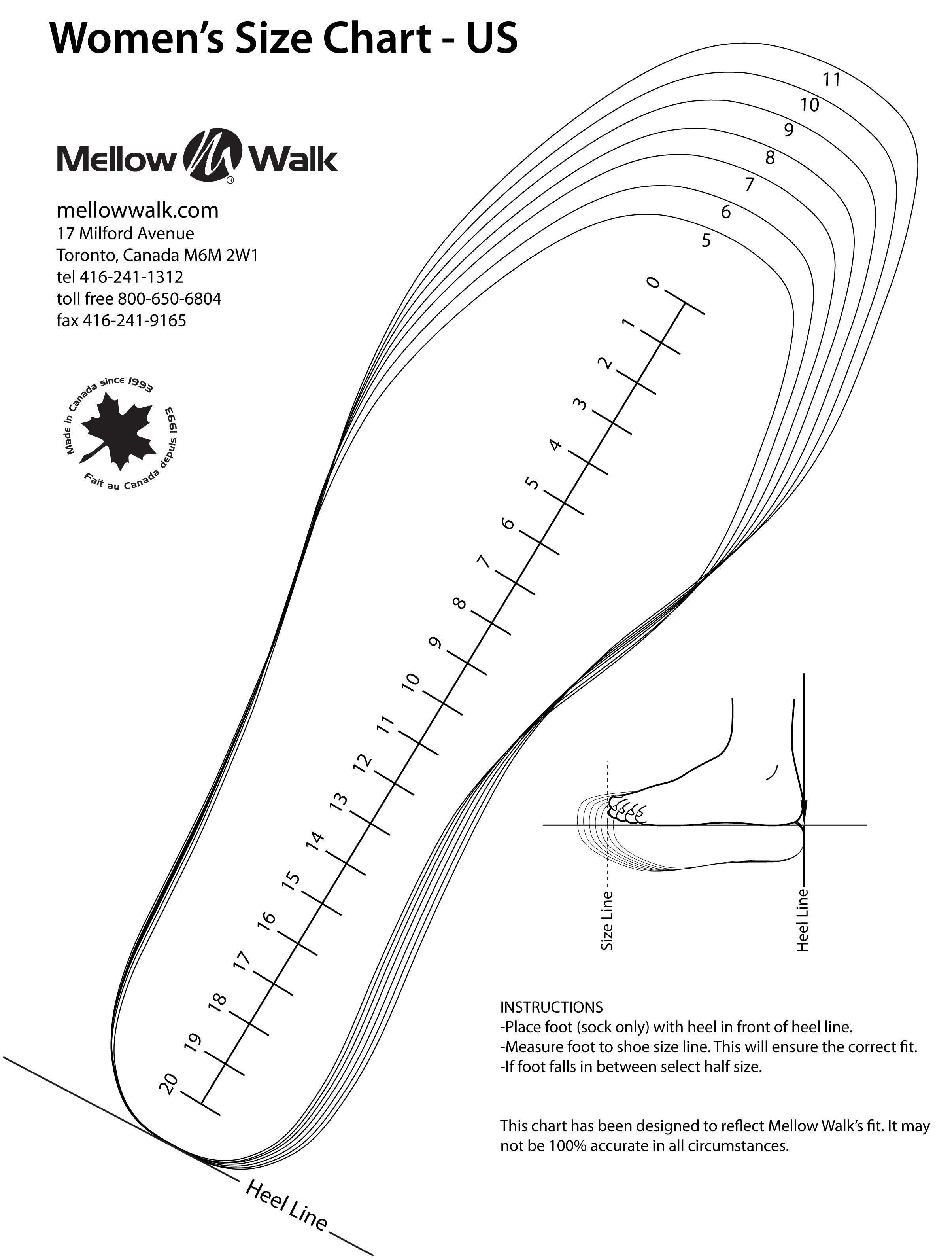 Comprehensive image within printable size chart