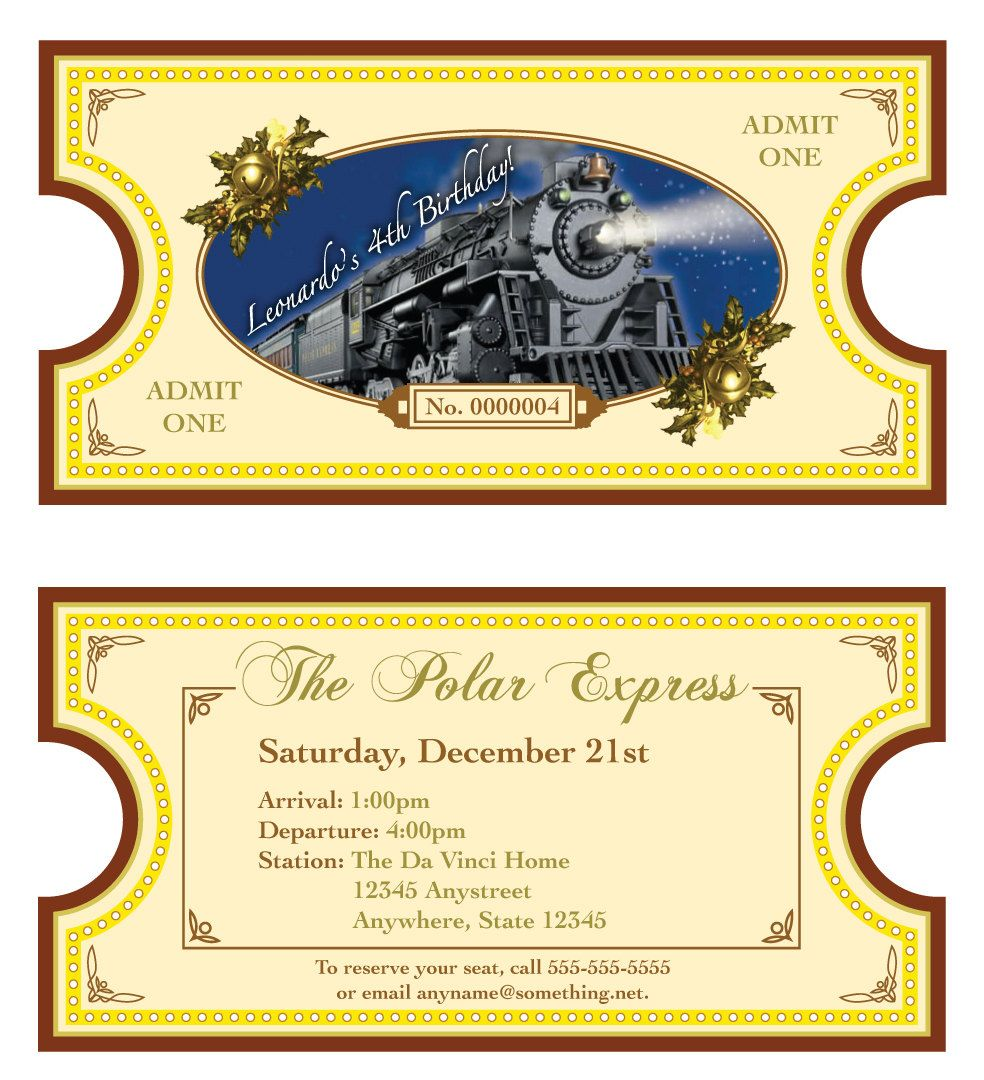 Persnickety image in printable polar express tickets boarding passes