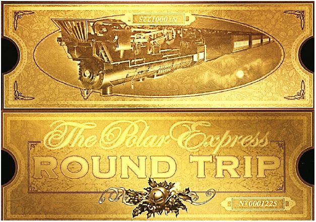 Inventive image in printable polar express tickets boarding passes