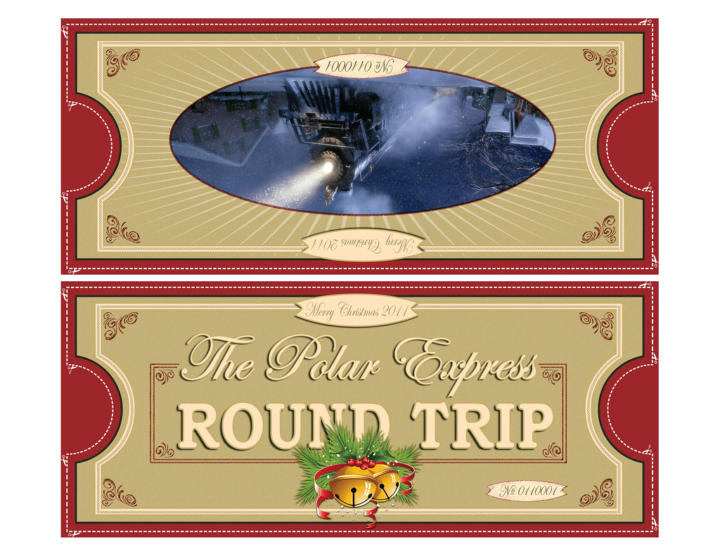 Sizzling image with regard to printable polar express tickets boarding passes