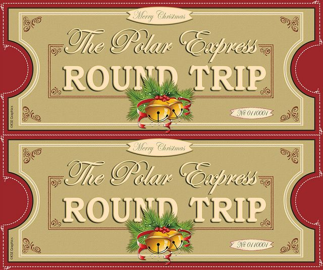 Handy image within printable polar express tickets boarding passes