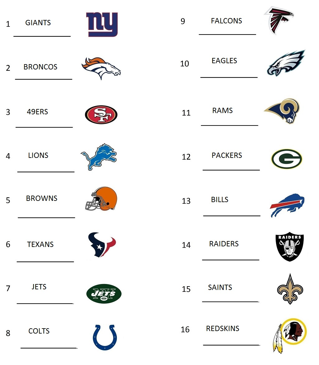 photograph about Printable List of Nfl Teams known as printable nfl trademarks PrintableTemplates