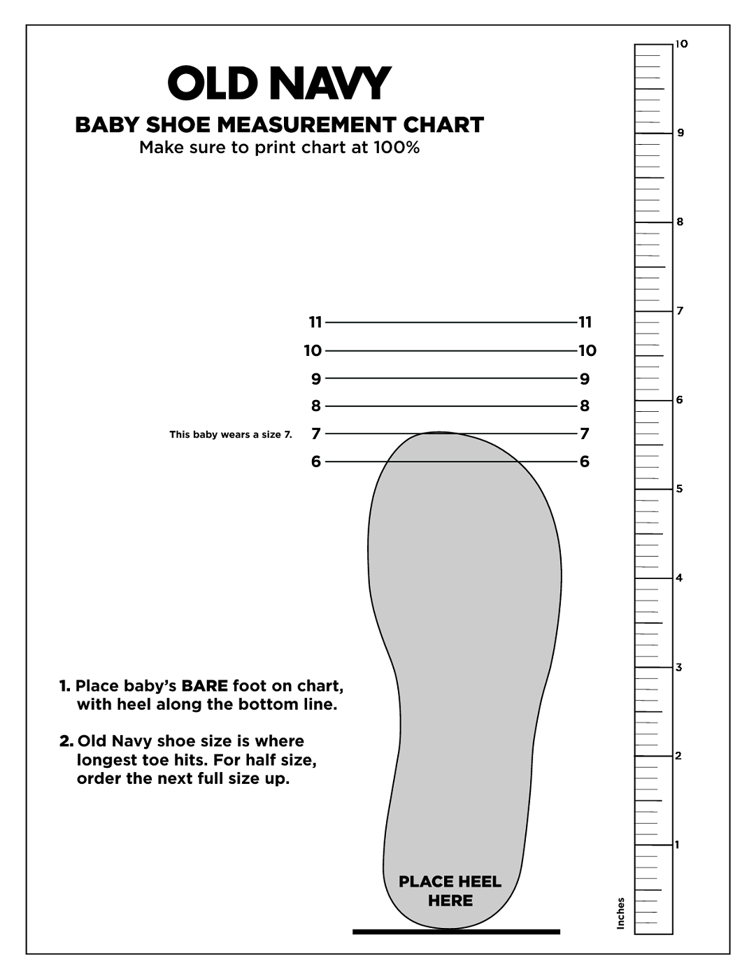 graphic about Printable Size Chart named printable shoe dimensions chart mens PrintableTemplates