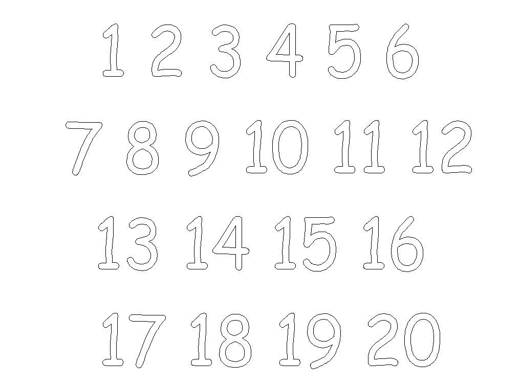 photograph about Large Printable Numbers 1-20 named major printable quantities PrintableTemplates