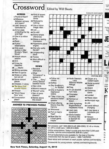 picture regarding Free Printable New York Times Crossword Puzzles referred to as Fresh york Periods crossword Printable Free of charge sunday Comfort