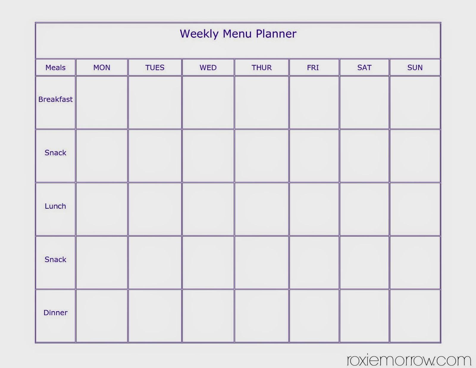 photo regarding Meal Plan Calendar Printable referred to as evening meal system calendar printable PrintableTemplates